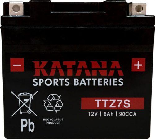 TTZ7S Katana Premium Maintenance Free VRLA Range Motorcycle Battery 12V 6AH 6 MONTHS WARRANTY