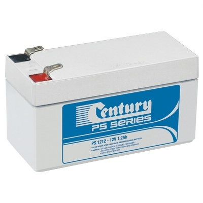PS1212 Century PS Stationary Power 12v 1.2ah AGM Deep-Cycle Batteries Sealed
