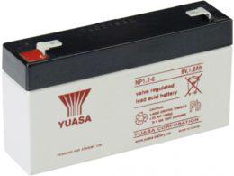 NP1.2-6FR Yuasa NP Stationary Power 6v 1.2ah AGM Deep-Cycle Batteries Sealed