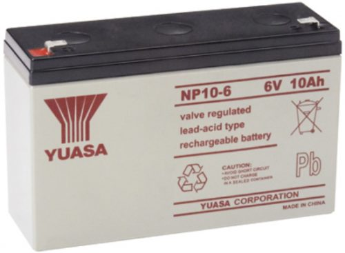 NP10-6FR Yuasa NP Stationary Power 6v 10ah AGM Deep-Cycle Batteries Sealed