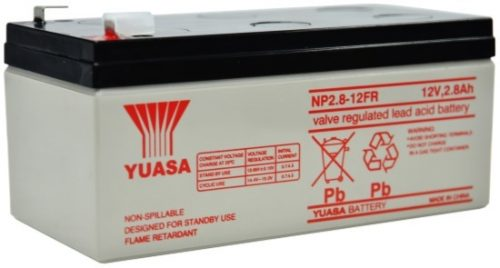 NP2.8-12FR Yuasa NP Stationary Power 12v 2.8ah AGM Deep-Cycle Batteries Sealed