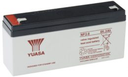 NP3-6FR Yuasa NP Stationary Power 6v 3ah AGM Deep-Cycle Batteries Sealed