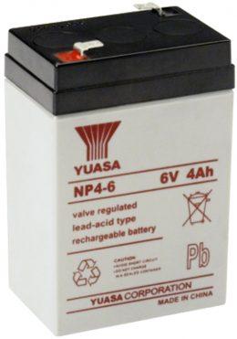 NP4-6FR Yuasa NP Stationary Power 6v 4ah AGM Deep-Cycle Batteries Sealed
