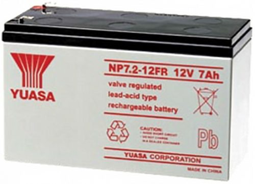 NP7.2-12FR Yuasa NP Stationary Power 12v 7ah AGM Deep-Cycle Batteries Sealed