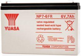 NP7-6FR Yuasa NP Stationary Power 6v 7ah AGM Deep-Cycle Batteries Sealed