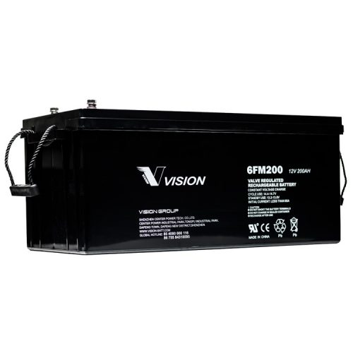 VISION 6FM200 200AH 12 VOLY AGM DEEP CYCLE BATTERY
