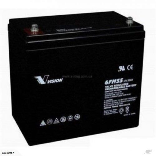 MOBILITY SCOOTER BATTERY VISION 6FM55 12V 55 AH – ALSO SUITS GOLF TRUNDLERS