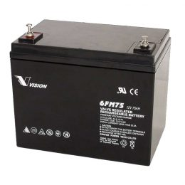 VISION 6FM75 12 VOLT 75AH AGM DEEP CYCLE BATTERY – MOBILITY SCOOTER BATTERY