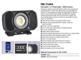 Narva 71404 Rechargeable L.E.D Audio Light 2000 Lumens