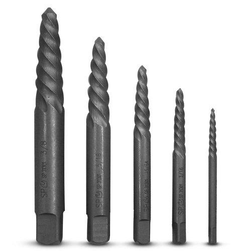 SP Tools SP31301 5pce Spiral Screw Extractor Set