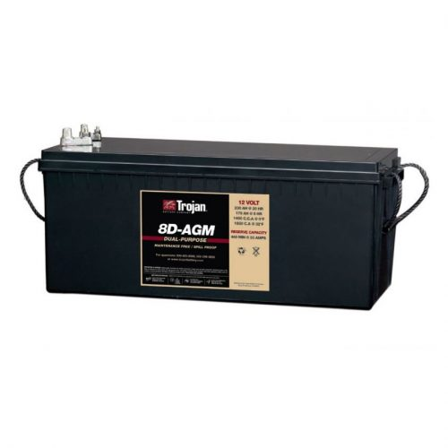 Trojan Battery 12v 230ahr AGM Deep Cycle/Starting TROJAN 8D-AGM