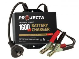 Projecta Charge N Maintain AC250B 12v 1600ma 2 Stage Car Battery Charger PROJECTA AC250B