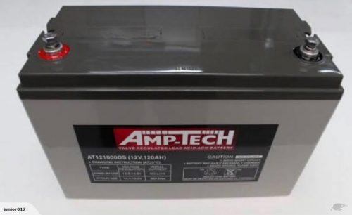 DEEP CYCLE SOLAR BATTERY 120 ah AGM BATTERY AMPTECH 121000DS