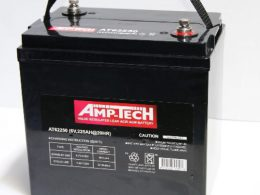 6 volt AGM DEEP CYCLE BATTERY 225 ah Amptech 62250