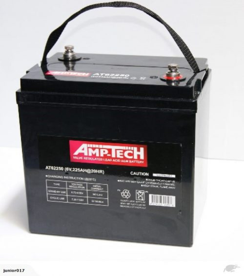 6 volt AGM DEEP CYCLE BATTERY 225 ah Amptech 62250