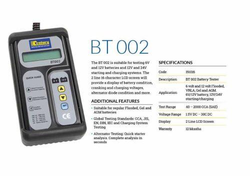 BT002 Century Battery Tester