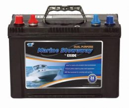EXIDE STOWAWAY Marine Start/Cycle battery 12v 600cca 82Ah MSDP24 FREE SHIPPING EXCEPT RURAL ADDRESSES