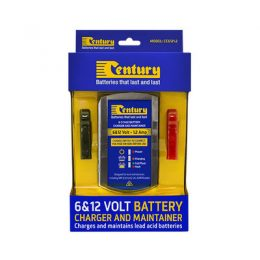 CC6121.2 CENTURY 6V / 12V 1.2A 8 STAGE BATTERY CHARGER 5 YEARS WARRANTY
