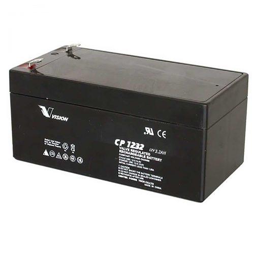 VISION CP1232 BATTERY 12V 3.2AH SEALED RECHARGEABLE SLA