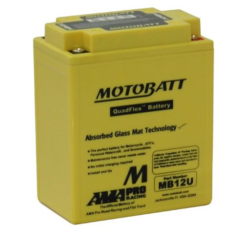 MOTOBATT QUADFLEX MB12U 12V 160CCA MOTORBIKE BATTERY YB12A-A YB12AL-A2 FREE SHIPPING NATIONWIDE
