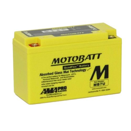 MOTOBATT QUADFLEX MB7U 12V 100CCA MOTORBIKE BATTERY YT7B-BS, YT7-B4 FREE SHIPPING NATIONWIDE