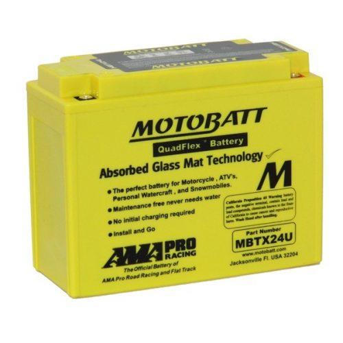 MOTOBATT QUADFLEX MBTX24U 12V 285CCA MOTORBIKE BATTERY 12N183 Y50-N18L-A2 FREE SHIPPING NATIONWIDE