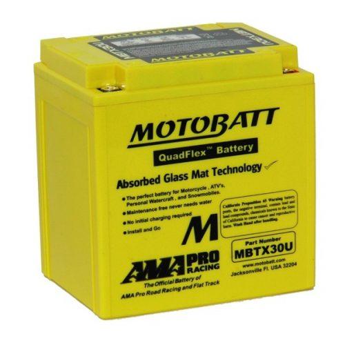 MOTOBATT QUADFLEX MBTX30U 12V 380CCA MOTORBIKE BATTERY yb30l-b y60n24l-a FREE SHIPPING NATIONWIDE