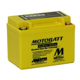 MOTOBATT QUADFLEX MBTX4U 12V 70CCA MOTORBIKE BATTERY YTX4L-BS YB4L-B FREE SHIPPING NATIONWIDE