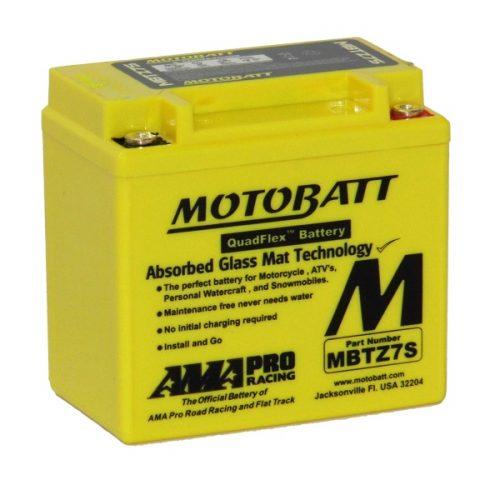 MOTOBATT QUADFLEX MBTZ7S 12V 100CCA MOTORBIKE BATTERY YT5L-BS YTZ6S YTZ7S FREE SHIPPING NATIONWIDE