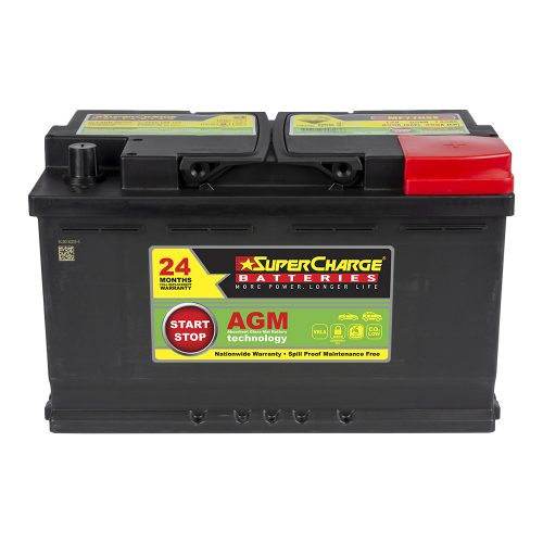 SuperCharge MF77HSS Start-Stop AGM Battery 12V 800 CCA LN4