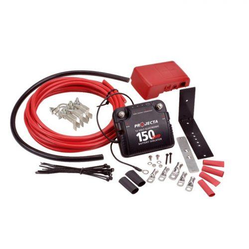 Projecta 12v 150a Electronic Isolator Full Kit DBC150K