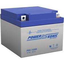POWERSONIC PDC-12260 12v 28ah AGM Deep-Cycle Batteries Sealed