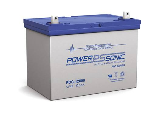POWERSONIC PDC-12800 12v 80ah AGM Deep-Cycle Batteries Sealed
