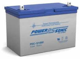 POWERSONIC PDC-121000 12v 100ah AGM Deep-Cycle Batteries Sealed
