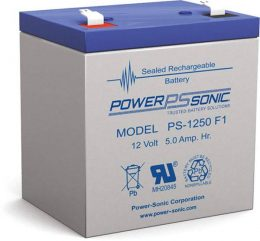 POWERSONIC PS-1250 12v 5ah AGM VRLA Sealed