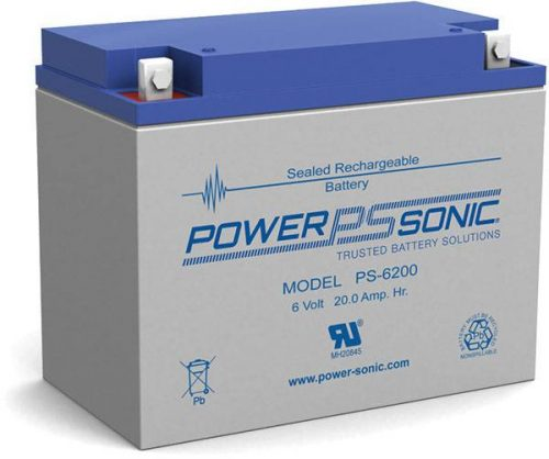 POWERSONIC PS-6200 6v 20ah AGM VRLA Sealed