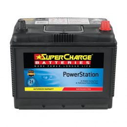 SUPERCHARGE NS70L BATTERY 500 CCA 24 MONTH WARRANTY