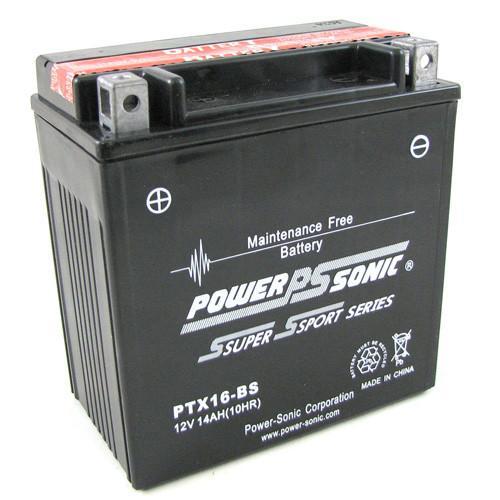 POWERSONIC MOTORBIKE BATTERY 12V 14AH PTX16-BS 220cca YTX16-BS