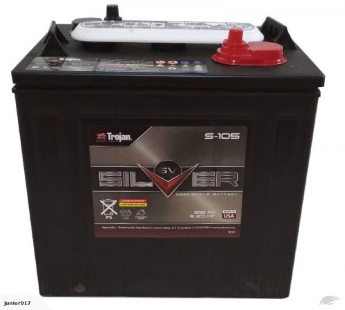 TROJAN DEEP CYCLE BATTERY 6 VOLT 215 AH TROJAN S-105 FREE SHIPPING EXCEPT RURAL ADDRESSES