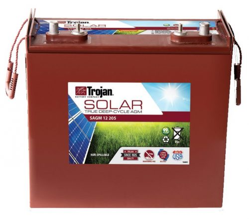 TROJAN SOLAR AGM DEEP CYCLE BATTERY 12V 205 AH TROJAN SAGM 12 205 FREE SHIPPING EXCEPT RURAL ADDRESSES