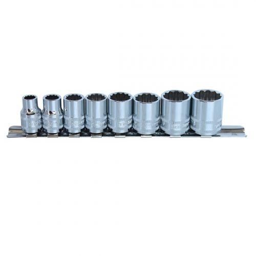 SP Tools SP20231 SP Tools Socket Rail Set 8pc 3/8 Dr SAE- 12pt