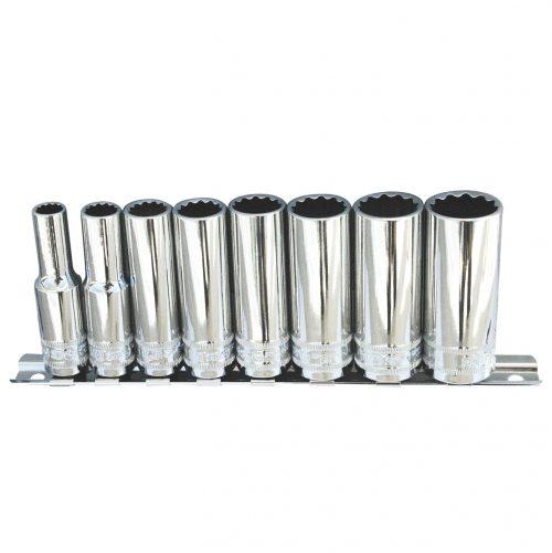 SP Tools SP20241 SP Tools S/SET RAILS 3/8 DR DEEP 8PCE 12 PT SAE