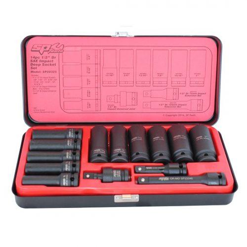 SP Tools SP2032 SP Tools Deep Socket Set Impact 1/2 Dr 6pt 14pc SAE