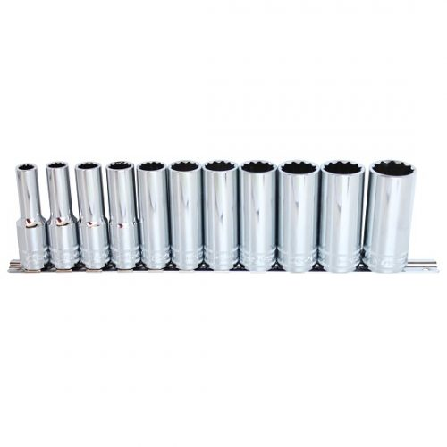 SP Tools SP20340 Socket Set 1/2in Drive 12 Piece Metric Deep Sockets C/W Socket