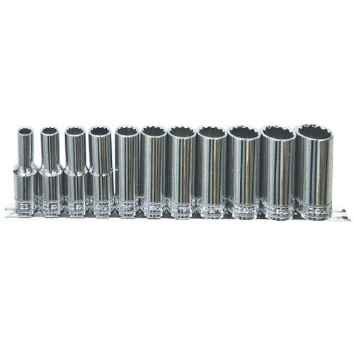 SP Tools SP20341 Socket Set 1/2in Drive 11 Piece Sae Deep Sockets C/W Socket Rai