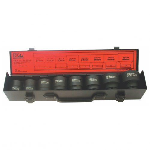 SP Tools SP20410 SP Tools S/SET IMPACT 3/4 DRIVE 8 PCE METRIC