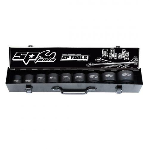 SP Tools SP20510 Imp Socket Set 1in Drive 8 Piece 6PT Metric