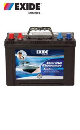 EXIDE DEEP CYCLE BATTERY STOWAWAY MARINE DUAL PURPOSE MSDP27D 750cca 105ah