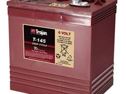 TROJAN DEEP CYCLE BATTERY 6V 260 AH TROJAN T-145 FREE SHIPPING EXCEPT RURAL ADDRESSES