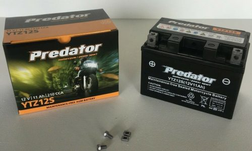 MOTORBIKE Battery Predator 12v 11ah 210cca YTZ12S YTZ12S, YTZ14S, MBTZ10S, TTZ12S, TTZ12S-BS FREE SHIPPING NATIONWIDE